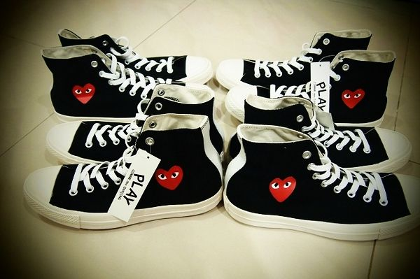 Comme des Garcons Cdg Play Converse All Star Shoes Sneakers High Top