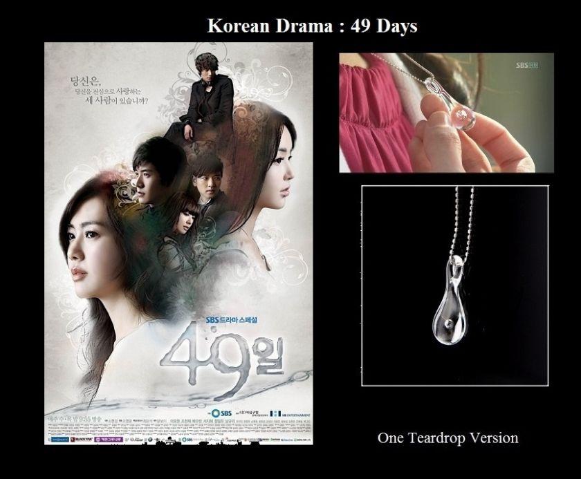 Korean Drama 49 Days OneTeardrop Necklace