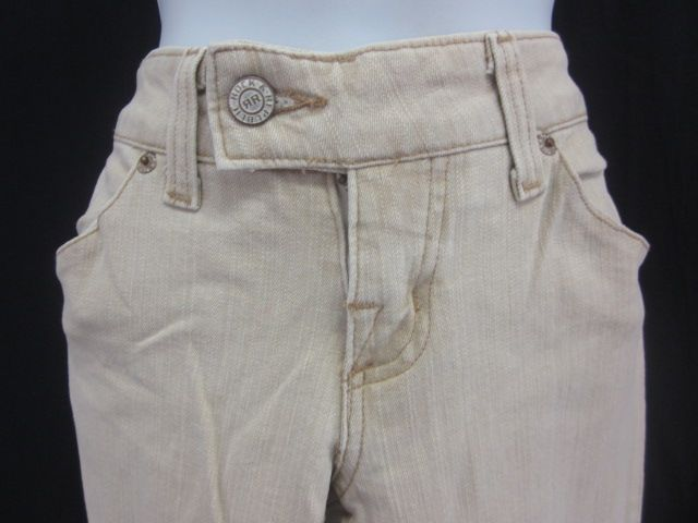 You are bidding on ROCK & REPUBLIC Beige Flare Leg Jeans Pants size 27