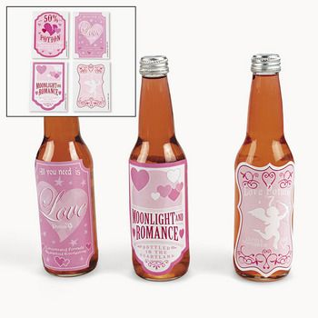 Love Potion Drink Bottle Label Stickers 12 PC / VALENTINE DAY (321461