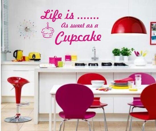 CUPCAKE Vinyl Wall Art sticker,decal,graphic Kitchen