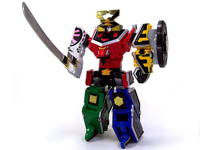 Power Rangers Samurai Sentai Shinkenger DX Shinken Oh Super Megazord